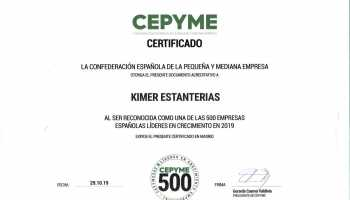 Kimer, certified as one of the 500 companies with more growth